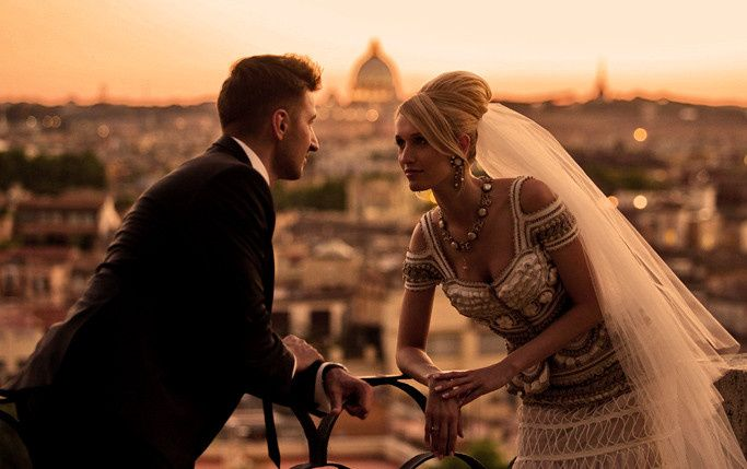 Romance abounds as the sun sets upon this perfect wedding in Florence.