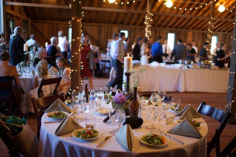 jc wedding barn dinner