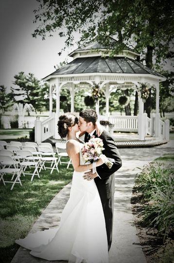 BrideGroomGazeboCondonAshWedding