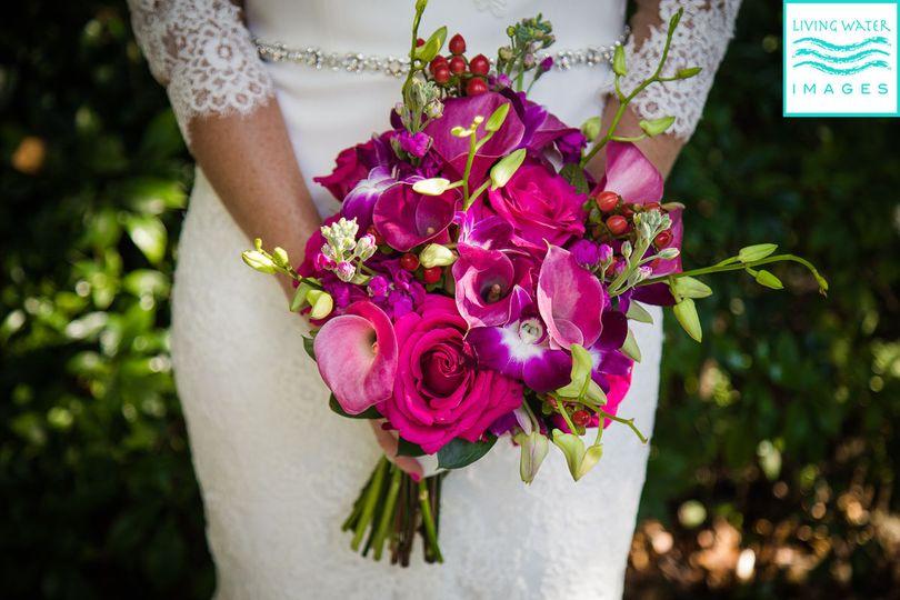 Incredible bridal bouquet at Key West Botanical Gardens