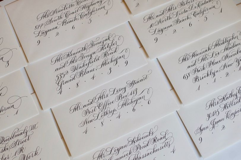 Flourished copperplate