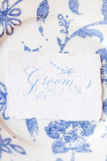 Flourished placecards