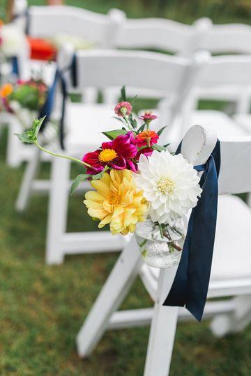 Floral aisle seat decor