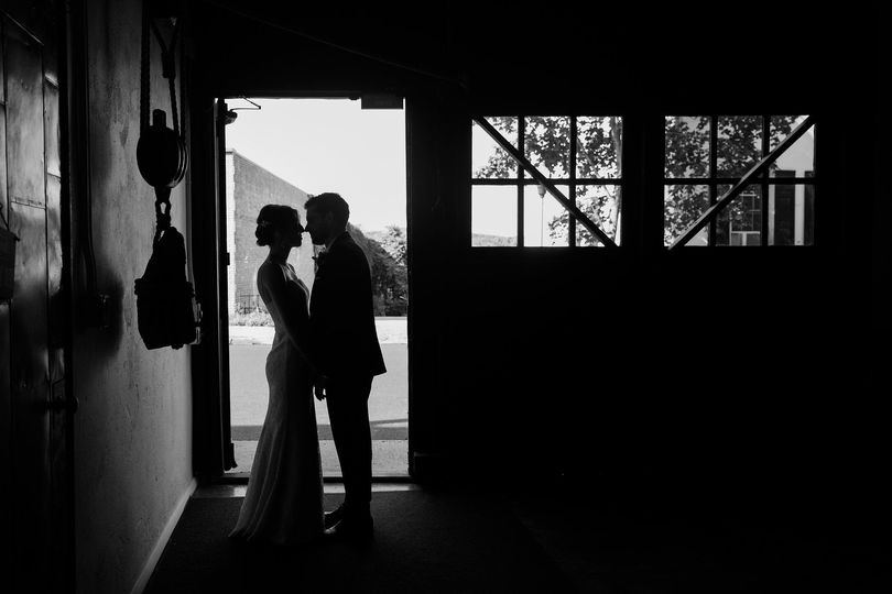 Newlyweds in the garage