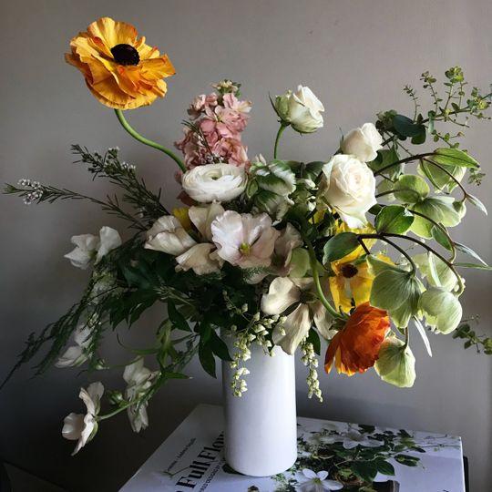 Floral table decor