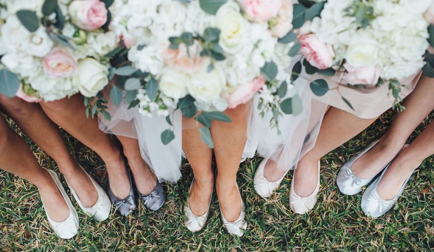 Cinderollies bridal party ballet flats come in 6 colors: Fairy Gold Mother, Hi-Ho Silver, Pretty...