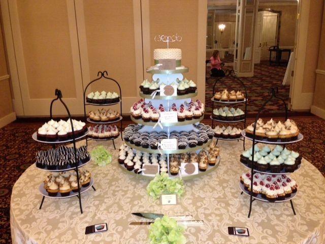 Tmx 1377871010434 White Tower W 3 Tiered Stands Milwaukee wedding cake