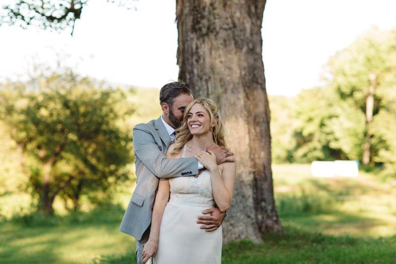 Holding his bride