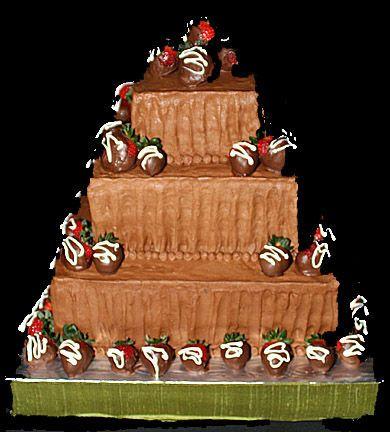 Triple deck chocolate cake