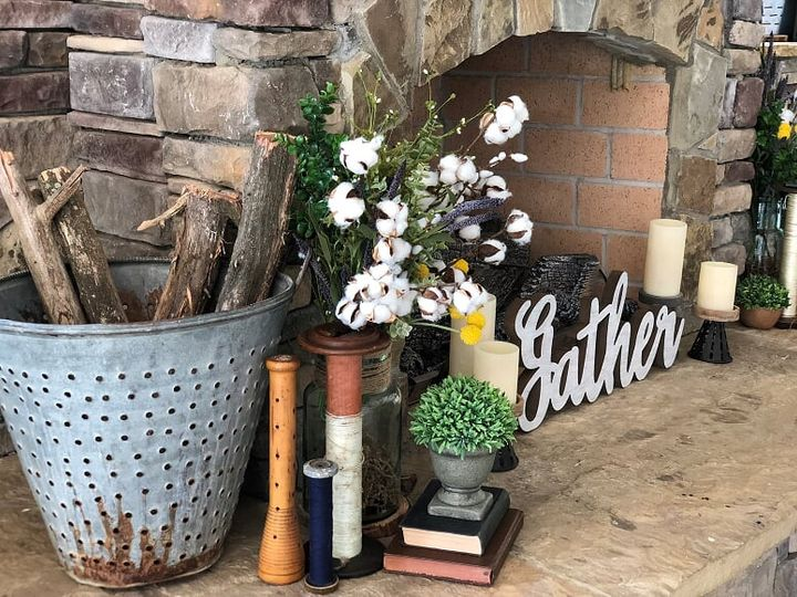 A gorgeous fireplace display