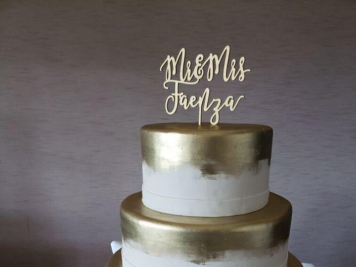Tmx Gold Painted Wedding 51 45212 161309364212353 Shrewsbury, MA wedding cake