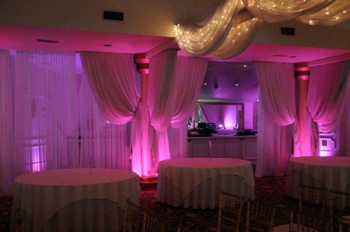 Wedding venue with up lighting