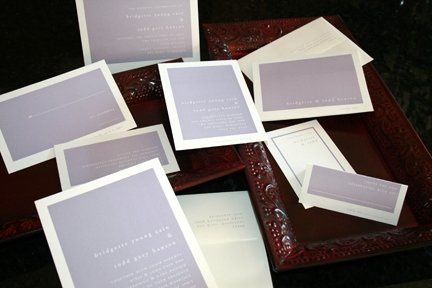 Choose from an ala carte menu of items to complete your perfect stationery trousseau.  Save the...