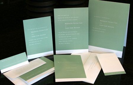 Choose from an ala carte menu of items to complete your perfect stationery trousseau....