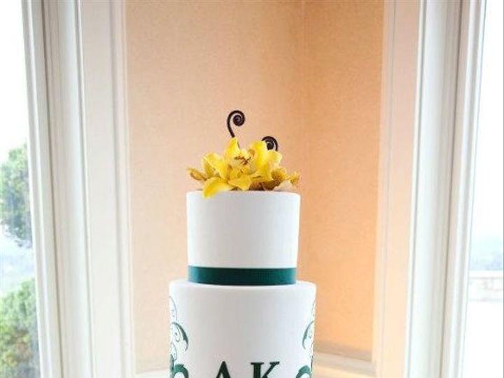 Tmx 1337212850068 DressedwithFlowers Seattle wedding cake