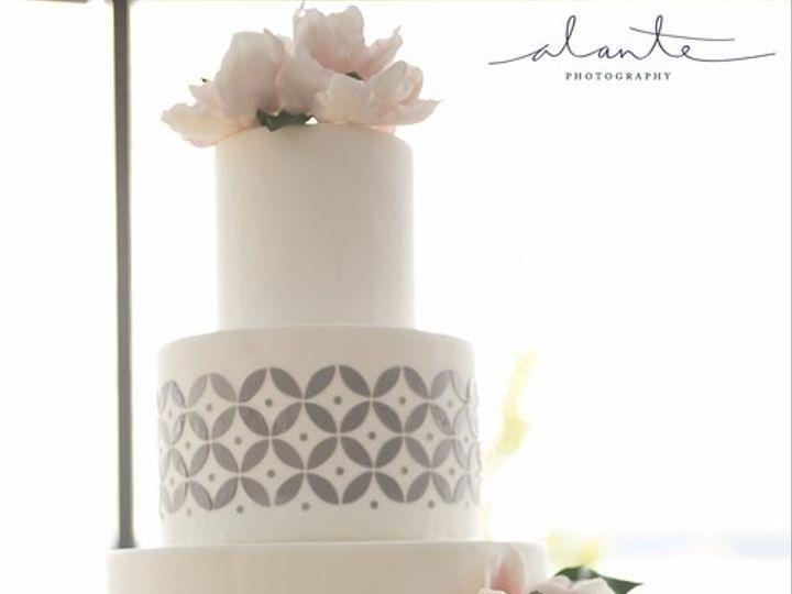 Tmx 1394738063810 Geometric Grey Cake With Sugar Magnolia Seattle wedding cake