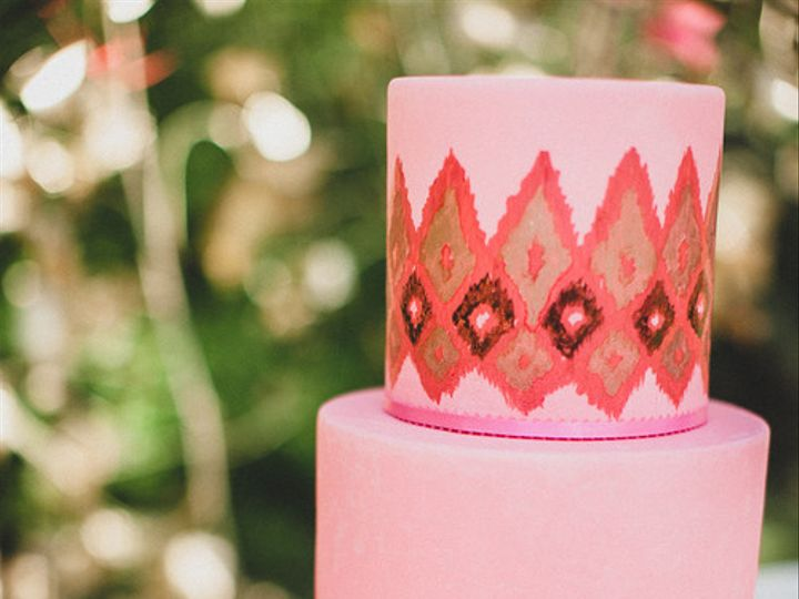 Tmx 1394738069612 Handpainted Ikat Cak Seattle wedding cake