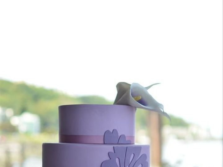 Tmx 1394738071924 Lavender Cake With Sugar Calla Lilies And Handcut  Seattle wedding cake