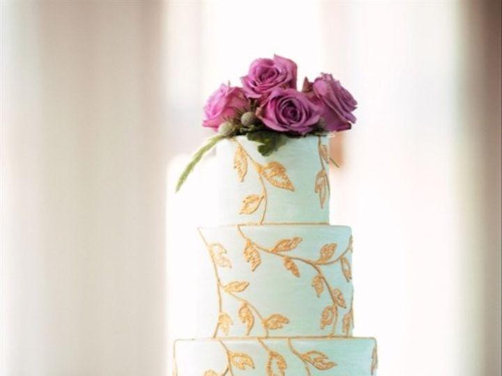 Tmx 1394738073838 Mint Green And Gold Wedding Cake No W Seattle wedding cake
