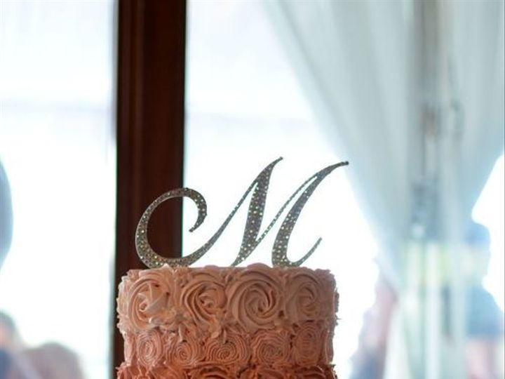 Tmx 1394738083687 Ombre Buttercream Rosette Cake With Rhinestone Tri Seattle wedding cake