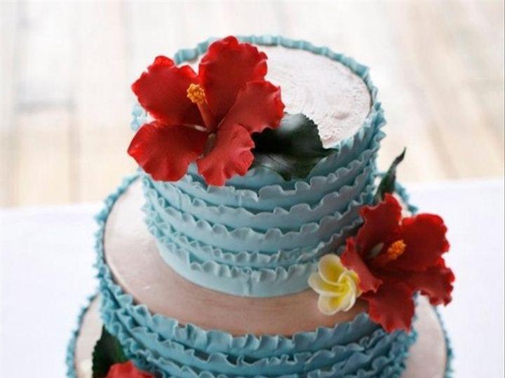 Tmx 1394738086144 Ombre Ruffles Cake With Sugar Hibiscus And Plumeri Seattle wedding cake