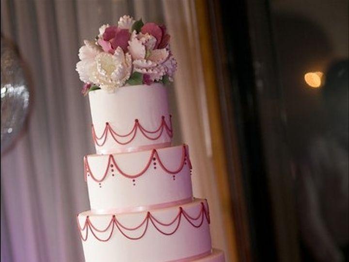 Tmx 1394738118248 Sugar Flower Cake With Coral Pipin Seattle wedding cake