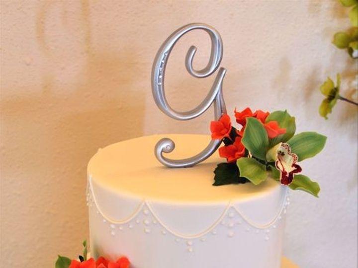 Tmx 1394738127326 Sugar Orchids And Hydrangeas Cak Seattle wedding cake