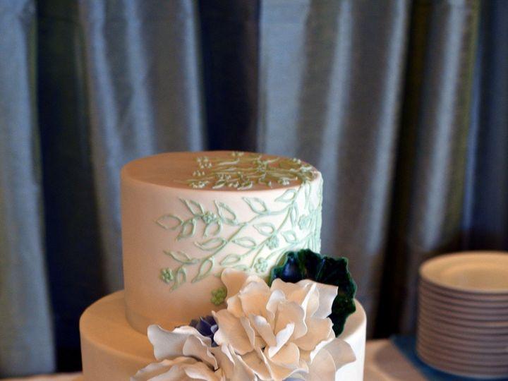 Tmx 1395164153528 Mint Green Floral Cake With Sugar Gardenia Seattle wedding cake