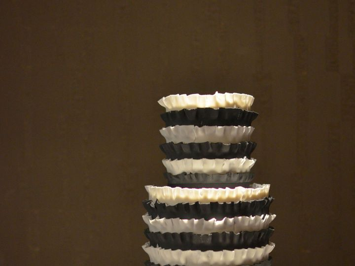 Tmx 1395164196953 Black And White Ruffle Cak Seattle wedding cake