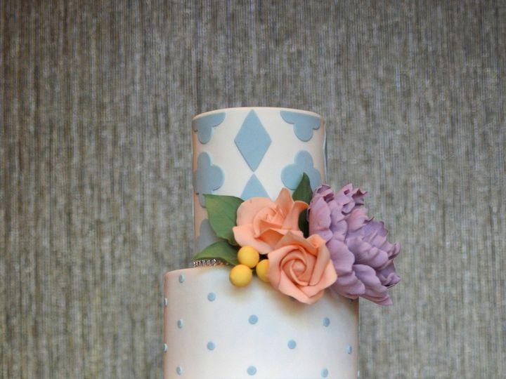 Tmx 1402459735562 Soft Pastel Wedding Cake With Sugar Flowers 1 Seattle wedding cake