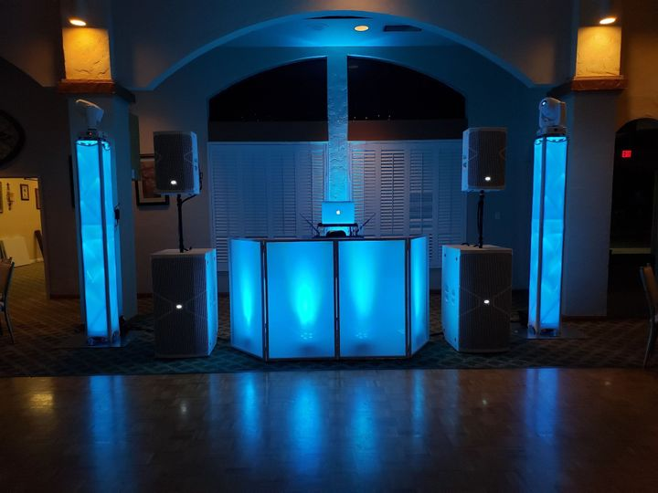 DJ Booth and Lighting System