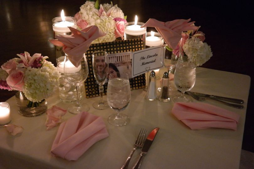 Candlelit head table