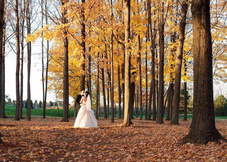 A beautiful fall wedding at The Inn at St. John's, Plymouth, Michigan.