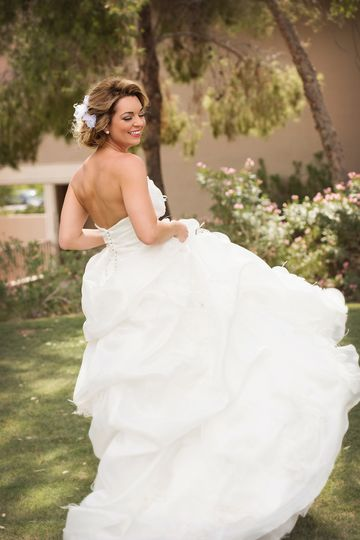 No feeling like twirling in the most beautiful dress in the world!