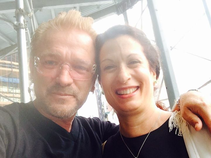 Tmx 1486716833360 Michele With Bono Of U2 And The Bee Forest Hills wedding dress