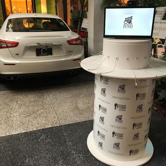 Fully wrapped Cell Phone Charging Station