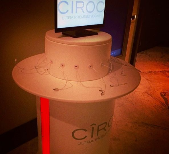 Cell Phone Charging Station sponsored by Ciroc at Revolt Music Conference