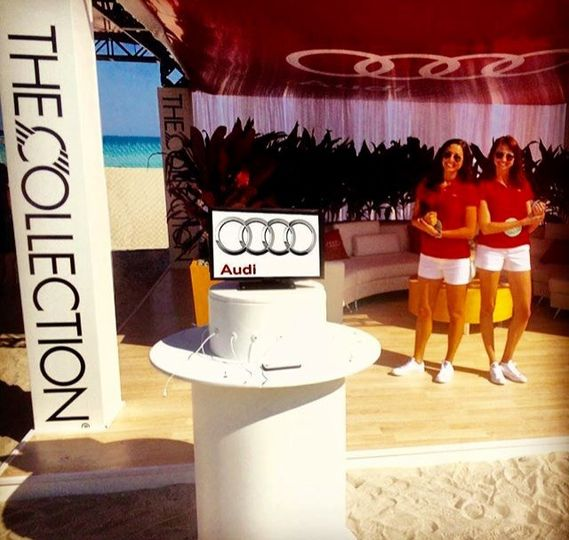Cell Phone Charging Station sponsored by The Collection and Audi at South Florida food and wine...