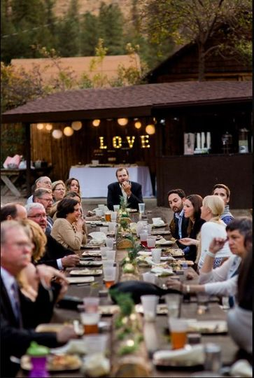 Love signage and reception table | Photo Credits:  Megan LeePhotography