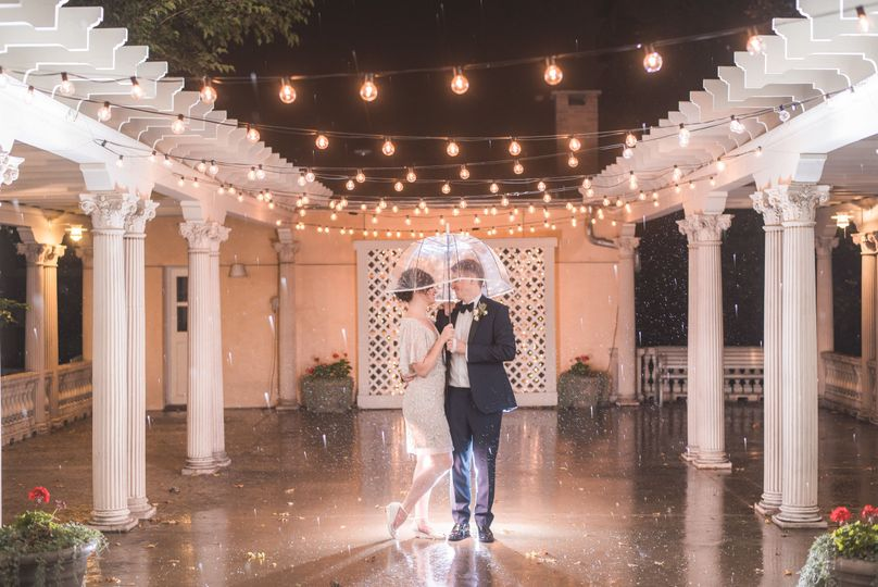 Newlyweds under the lights | Photo Credits: T5 Photography