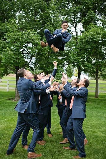 Groomsmen celebrate the groom | Photo Credits:  Rhema Faith Photography