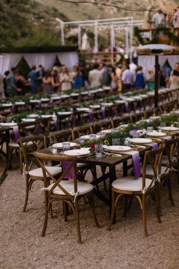 Outdoor reception setup | Photo Credits: Levi Tejera