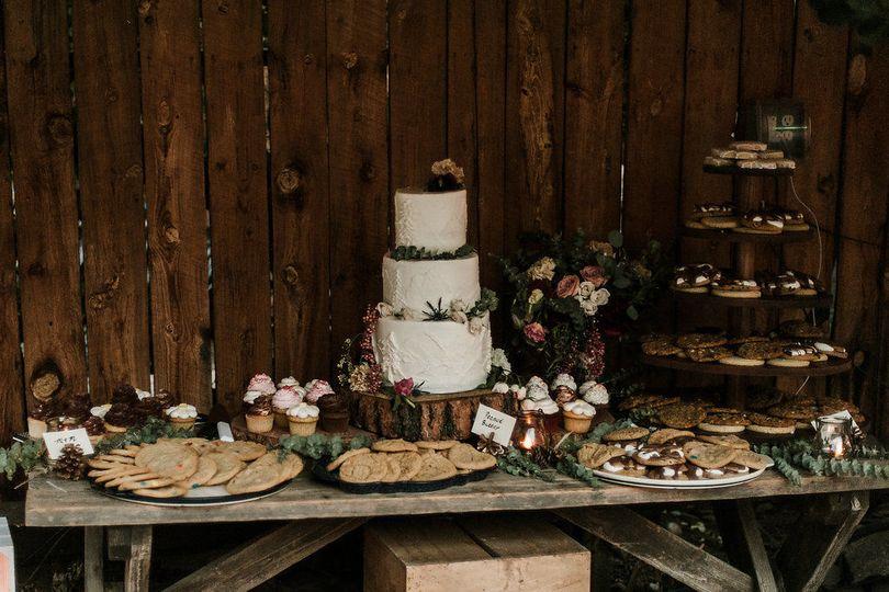 Dessert bar | Photo Credits: Kate Salley Photography