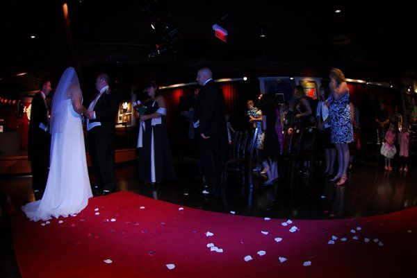 Custom ceremony complete with Red Carpet Aisle!