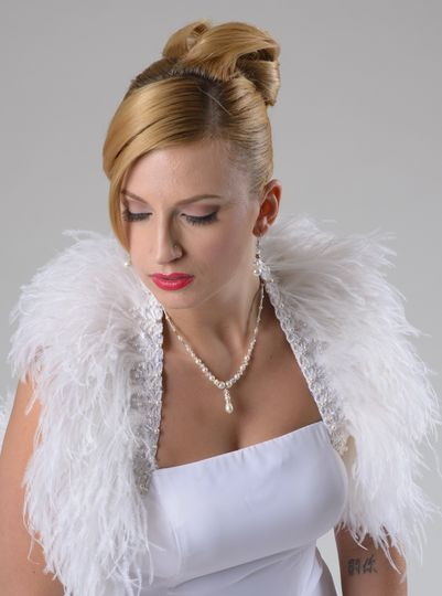 Bridal Ostrich Feather Wrap/ Shrug. Available in 2 colors $289.00...