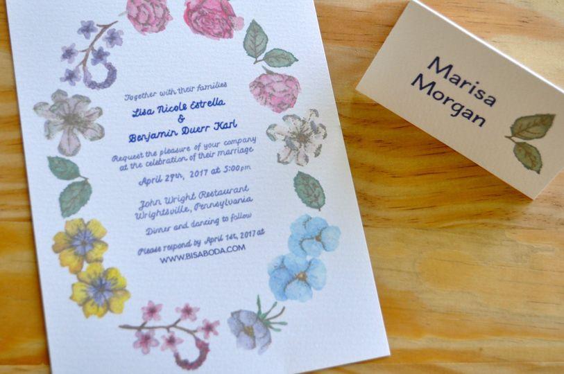 Painted invitation