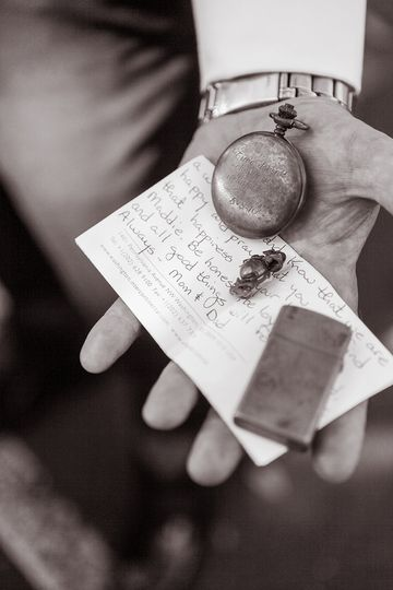 Vows, pocket watch, and vows | Photo courtesy of Michael Benson Photography