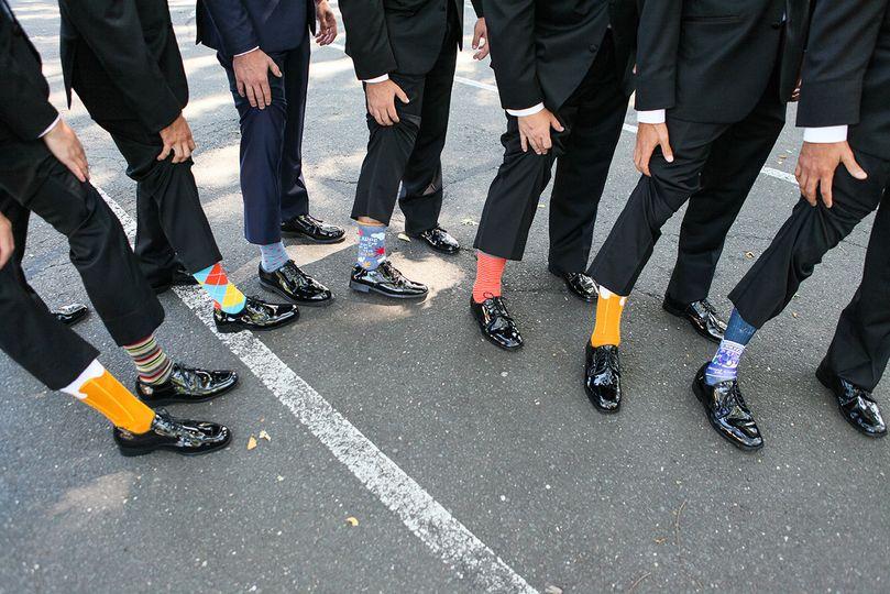 Groomsmen's socks | Photo courtesy of Michael Benson Photography