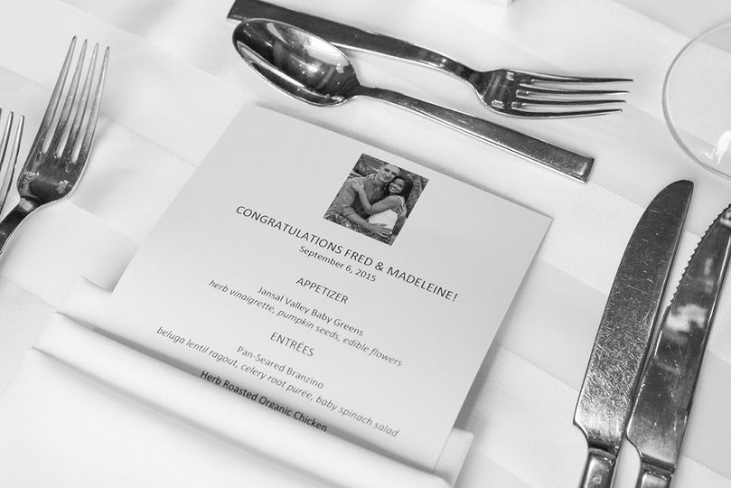 Table setting and menu | Photo courtesy of Michael Benson Photography