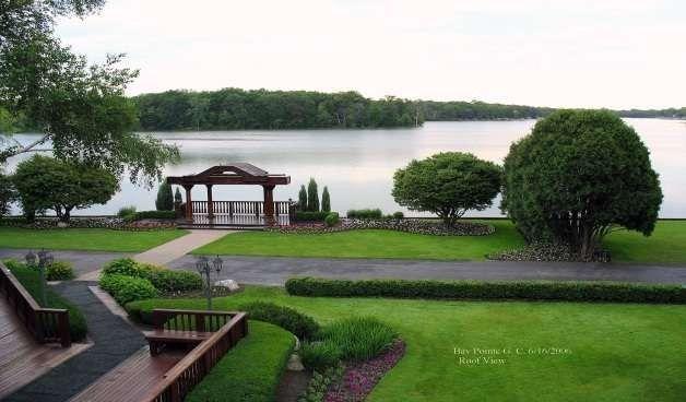 View of the gazebo and lake